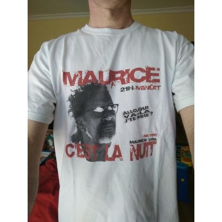 LE dernier Tee-Shirt blanc Maurice c'est la nuit